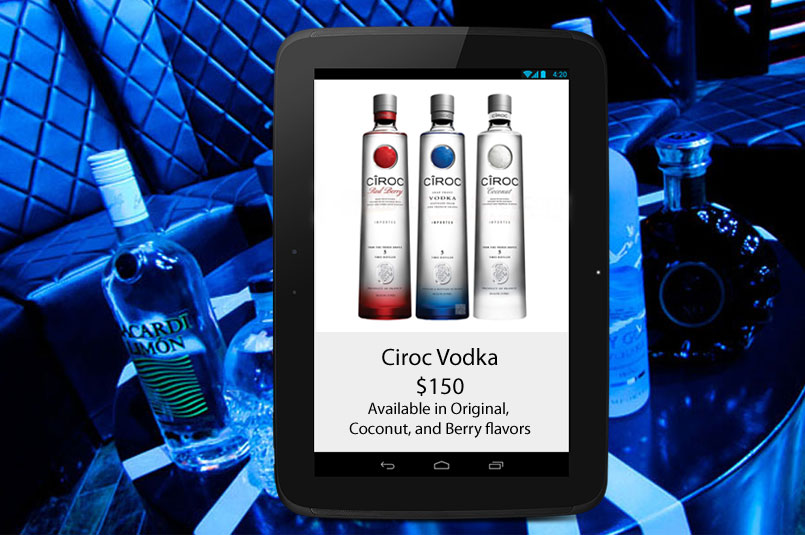 bottle service tablet